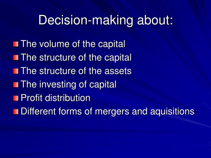 Decision-making about: