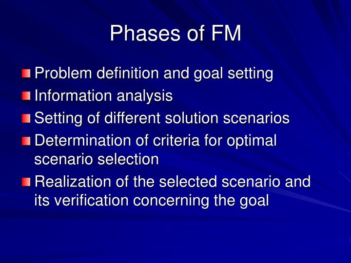 Phases of FM