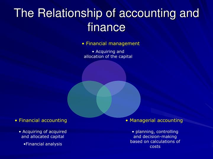 The Relationship of accounting and finance