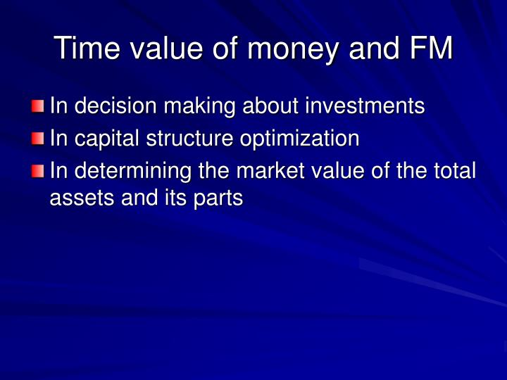 Time value of money and FM