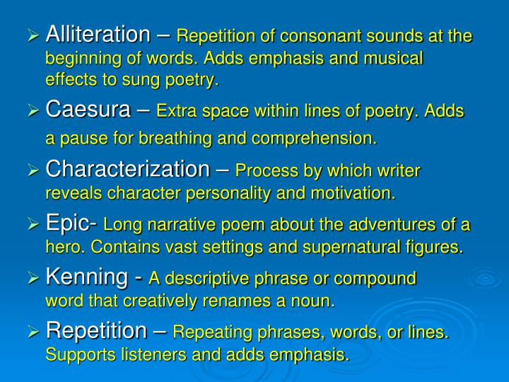 Alliteration –