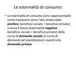 le esternalit di consumo