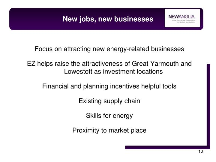New jobs, new businesses