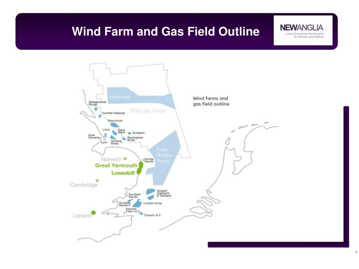 Wind Farm and Gas Field Outline