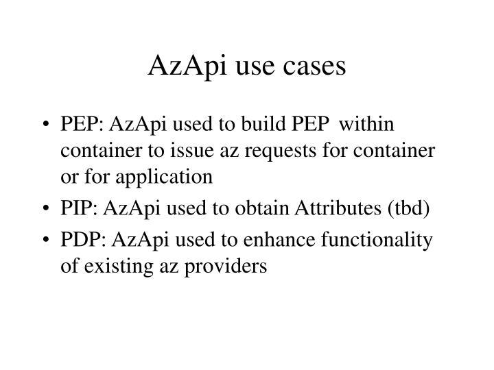 AzApi use cases