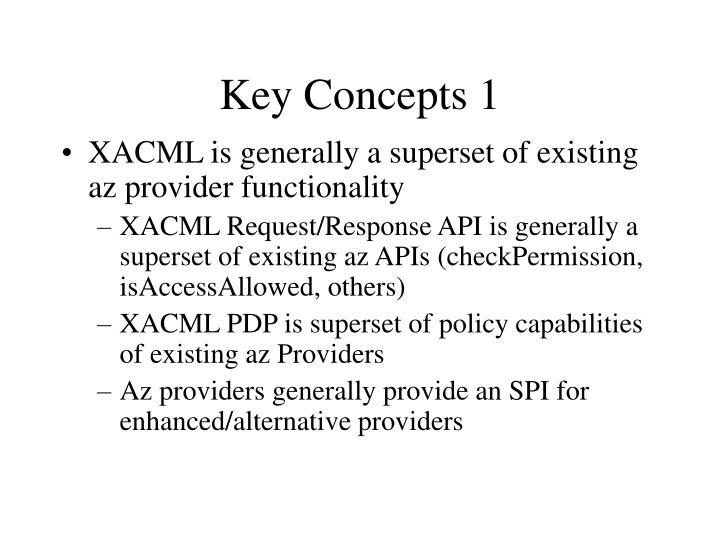 Key concepts 1