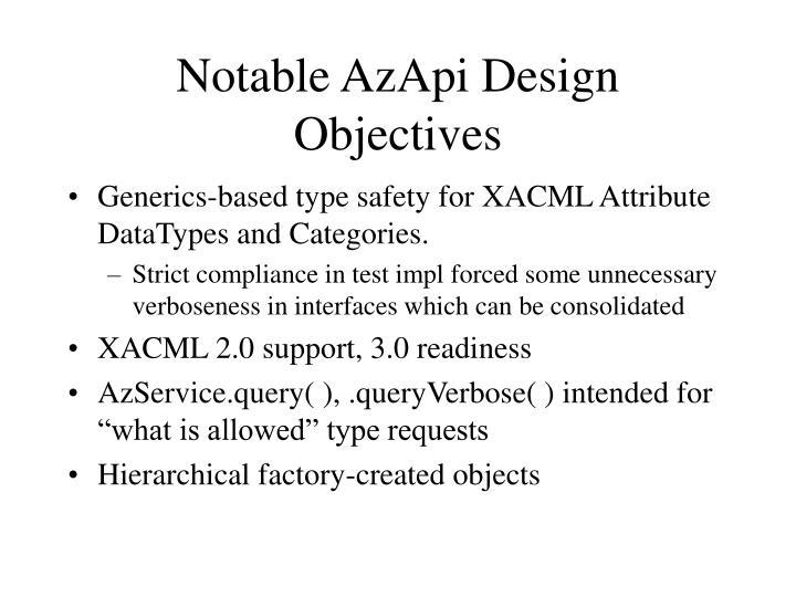 Notable AzApi Design Objectives