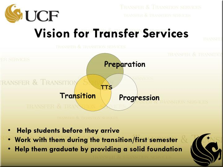 Vision for Transfer Services
