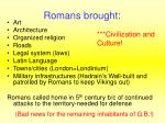 romans brought