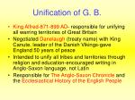 unification of g b