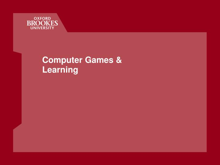 computer games learning n.