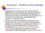 conclusion problems and challenge