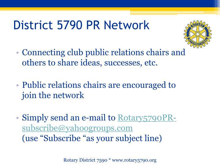 District 5790 PR Network