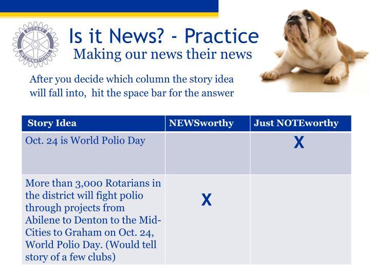 Is it News? - Practice