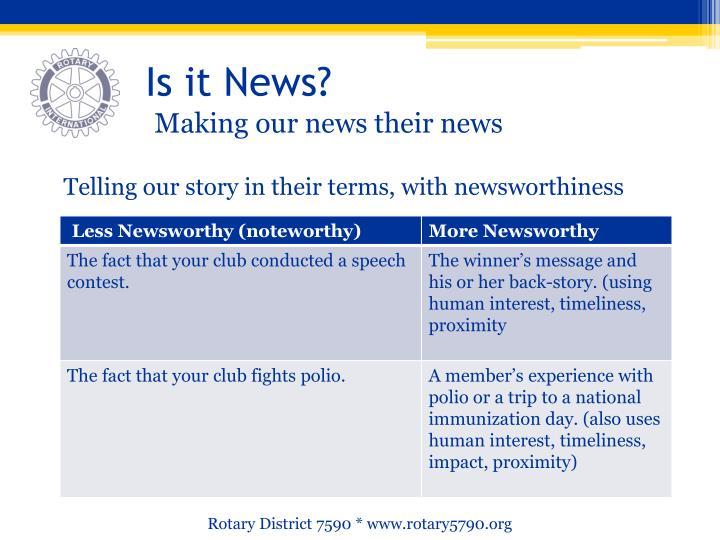 Is it News?