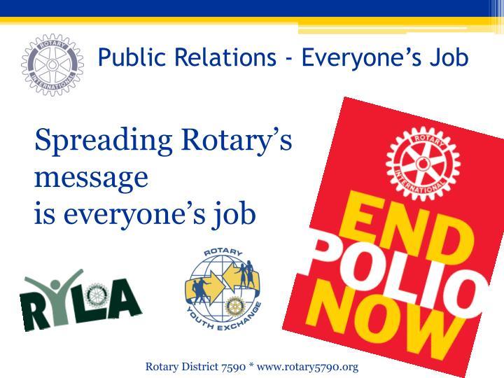 Public Relations - Everyone's Job