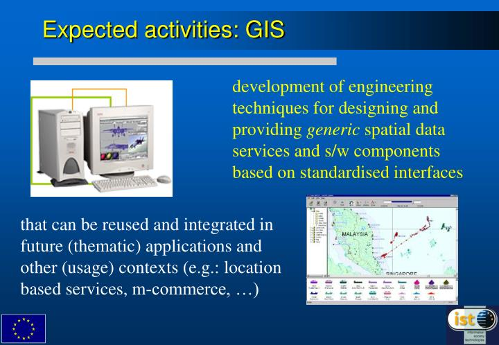 Expected activities: GIS