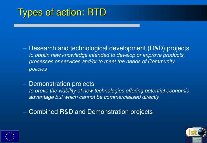 Types of action: RTD