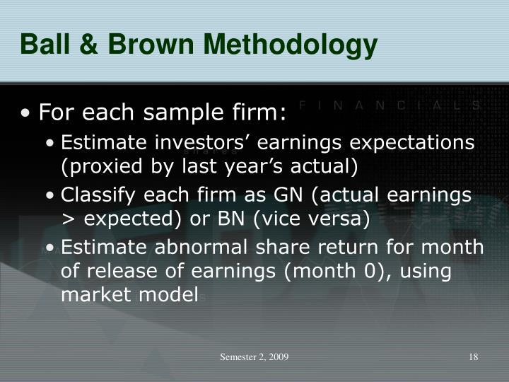 Ball & Brown Methodology