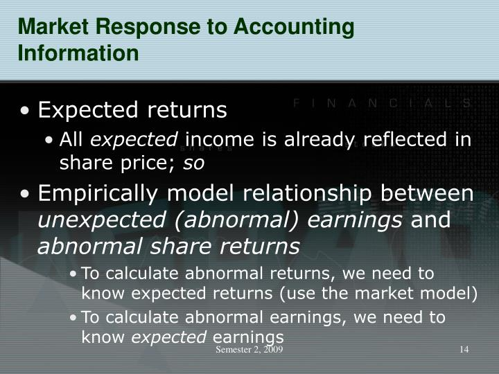 Market Response to Accounting Information