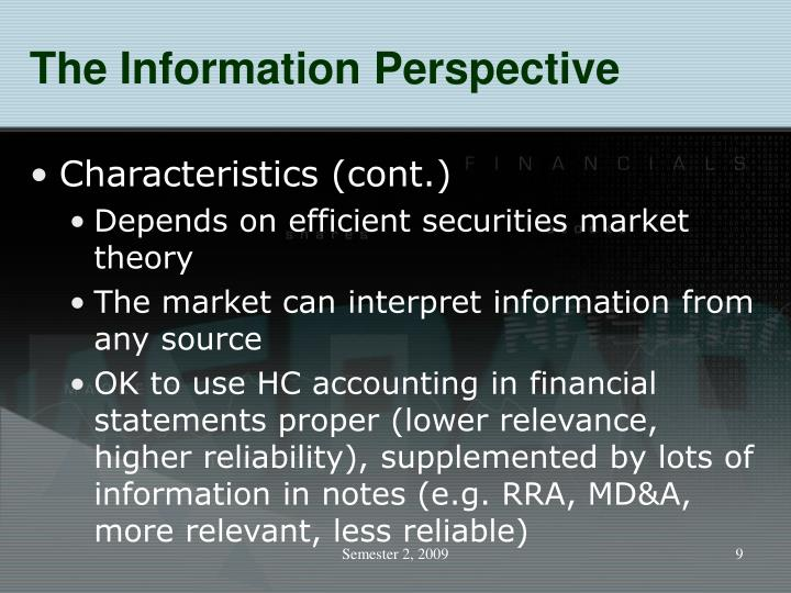 The Information Perspective