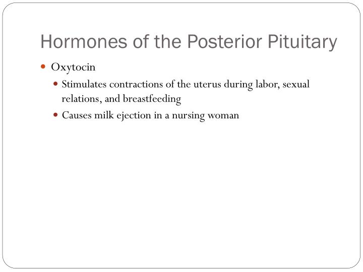 Hormones of the Posterior Pituitary