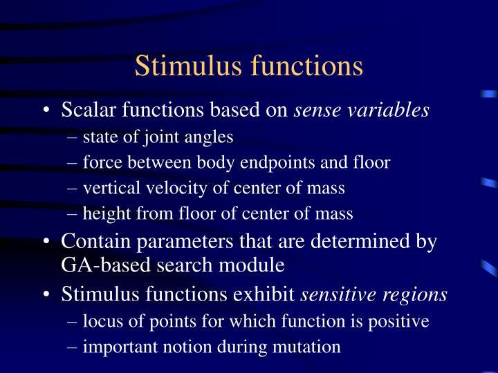 Stimulus functions