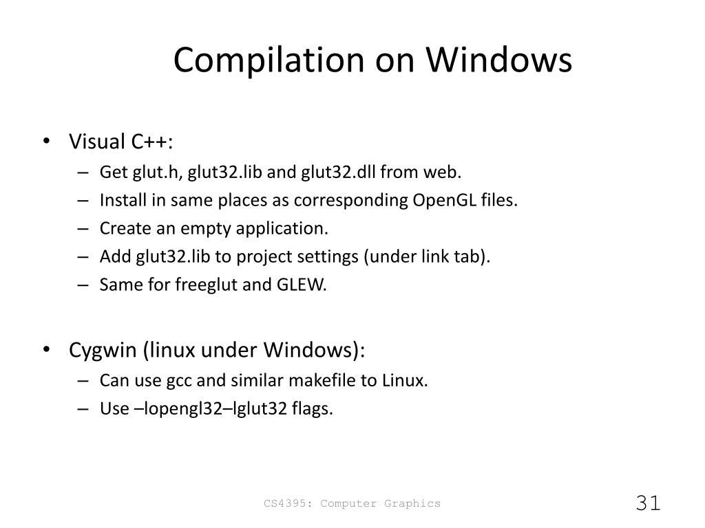 Freeglut linux compile