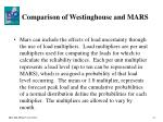 comparison of westinghouse and mars2