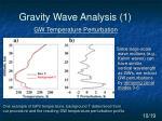 gravity wave analysis 1