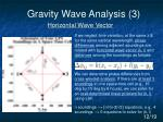 gravity wave analysis 3