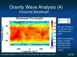 gravity wave analysis 4