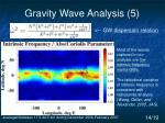 gravity wave analysis 5