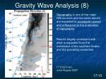 gravity wave analysis 8