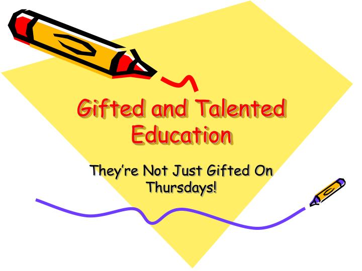 gifted and talented education n.