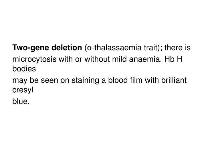 Two-gene deletion