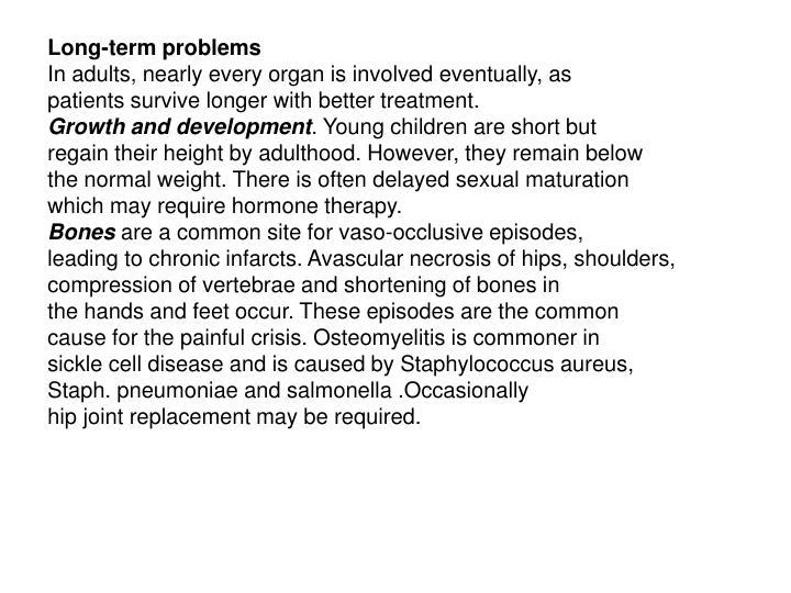 Long-term problems