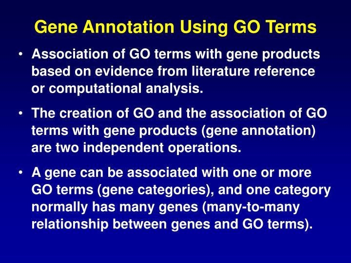 Gene Annotation Using GO Terms