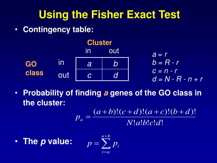 Using the Fisher Exact Test