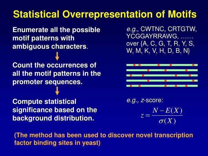 Statistical Overrepresentation of Motifs