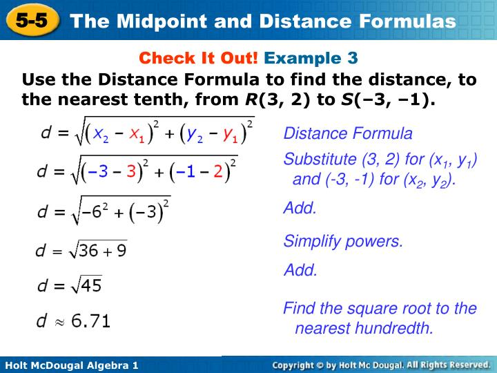 how to find midpoint between two points cas