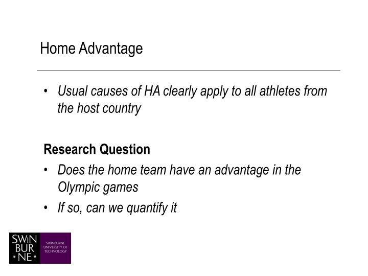 Home Advantage