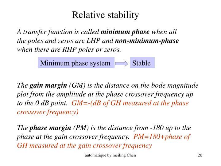 Relative stability