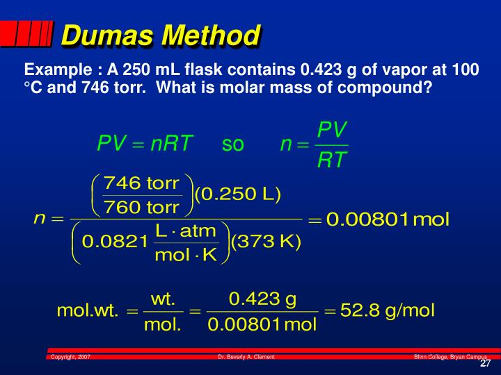 Dumas Method