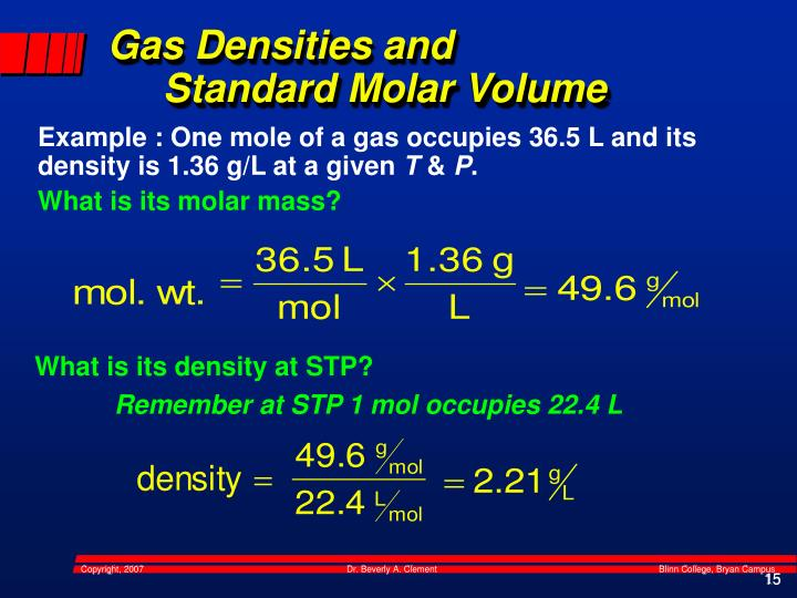 Gas Densities and