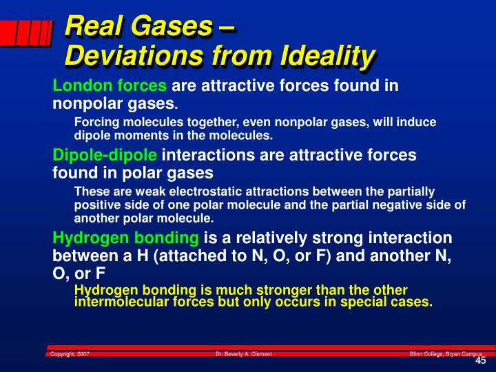 Real Gases –