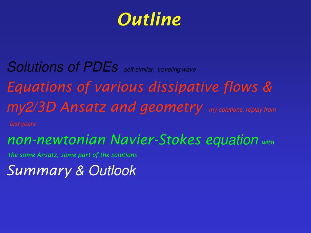 PPT - Self-similar solutions for the two dimensional non