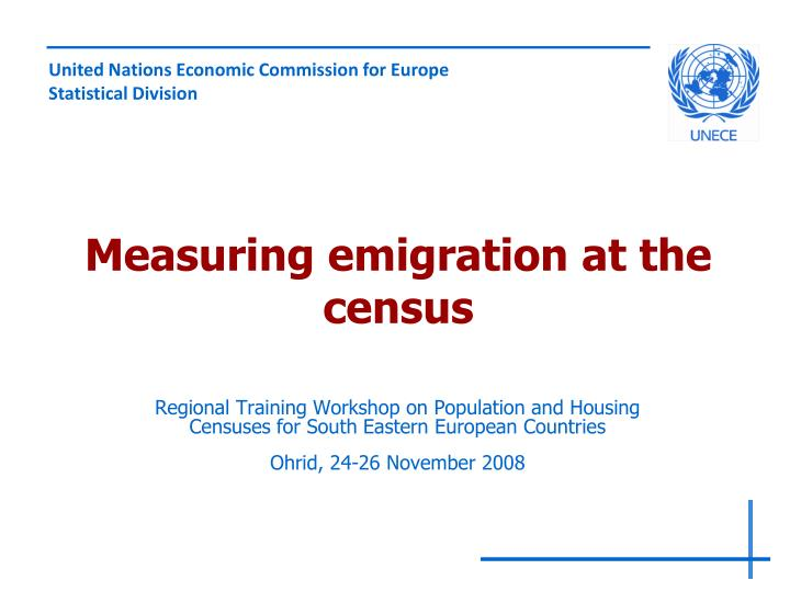 Measuring emigration at the census