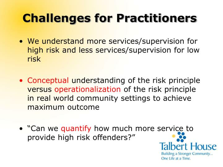 Challenges for Practitioners