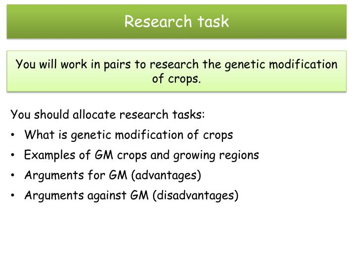 arguments for and against genetically modified